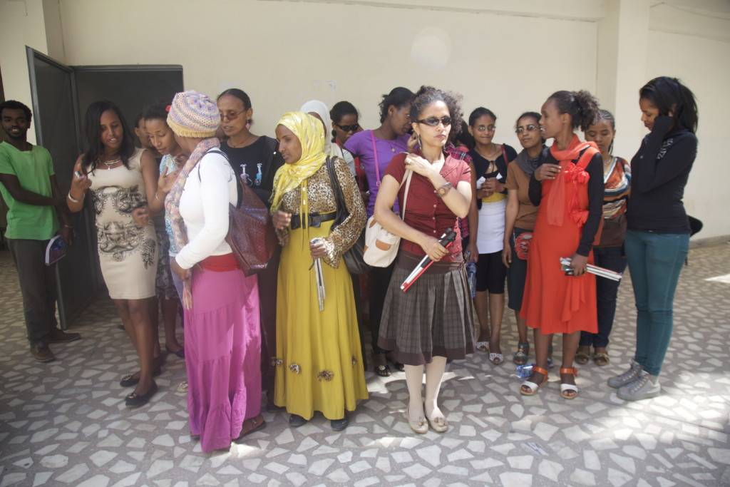 Students with disabilities at Addis Ababa University.
