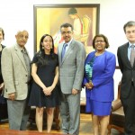 Dr. Tedros Adhanom, Aster, Haben, and Haben's team at the Ministry of Foreign Affairs.